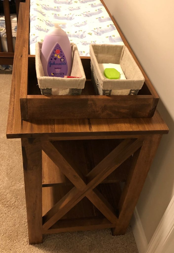 Changing Table Side View